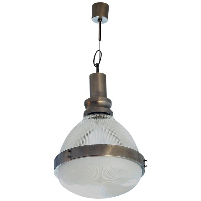 1960´s Lantern by Sergio Mazza for Artemide, nickel-plated brass, glass-Italy For Sale