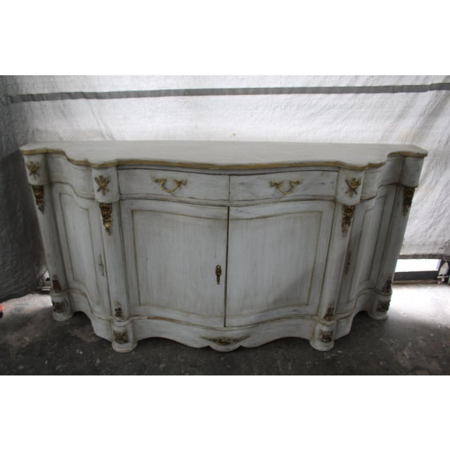 White 20th Century French Curved Sideboard For Sale - Image 8 of 8