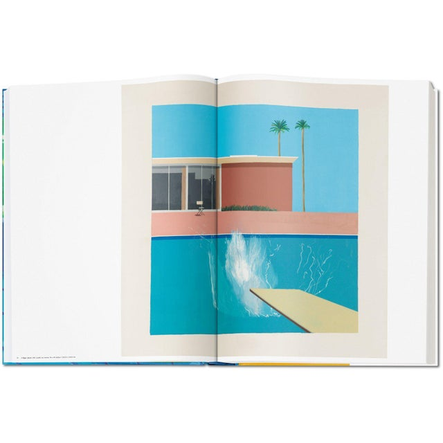 """Paper Autographed David Hockney """"A Bigger Book"""" Painting Collection with Book Stand Collector's Edition For Sale - Image 7 of 13"""