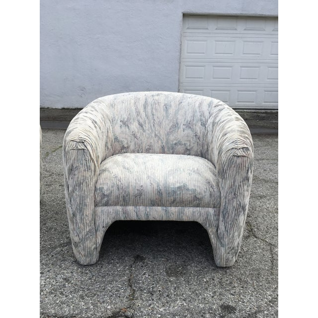 Fabric 1980s Vintage Sculptural Steve Chase Lounge Chairs- A Pair For Sale - Image 7 of 13