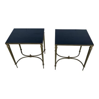 Pair of Solid Brass Mansion Jansen Style Tables For Sale