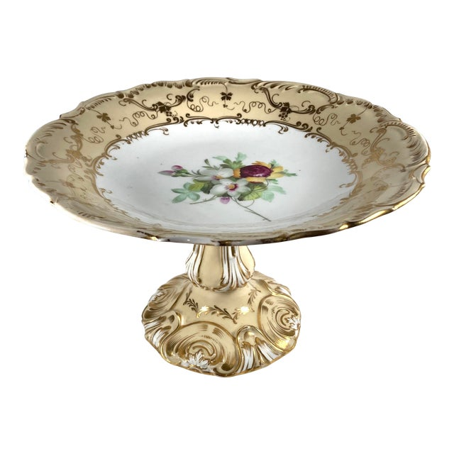 19th Century English William IV Period Ridgway Porcelain Tazza For Sale