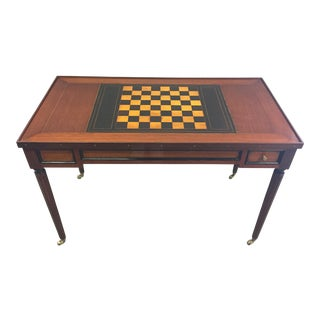 Multi-Board Regency Style Game Table For Sale