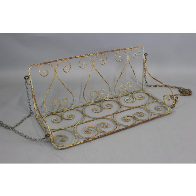 1880 English Iron Garden Swing For Sale - Image 5 of 7