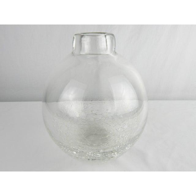Crackle Art Glass Vase For Sale - Image 4 of 7