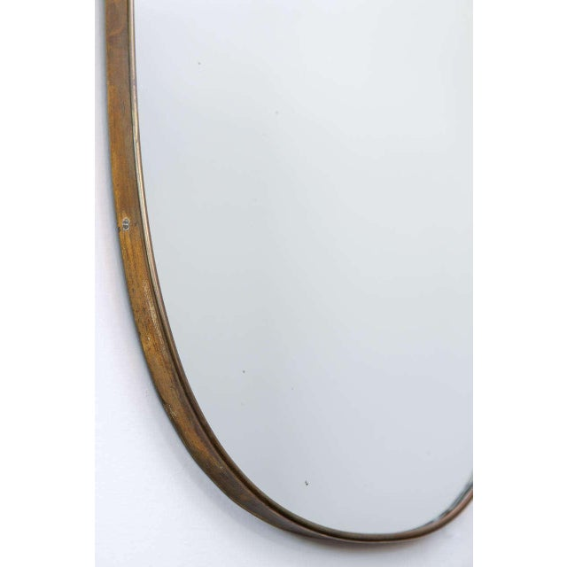 Gio Ponti-Style Italian Shield Mirror - Image 5 of 7