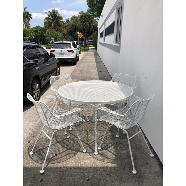 Woodard Sculptura Patio Dining Table and Chairs Set For Sale - Image 12 of 13