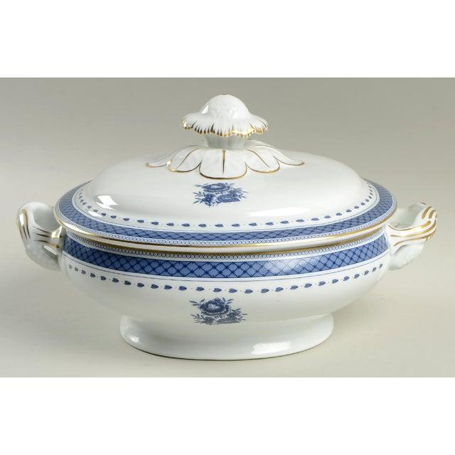 Mottahedeh Indigo Covered Serving Bowl For Sale - Image 11 of 11