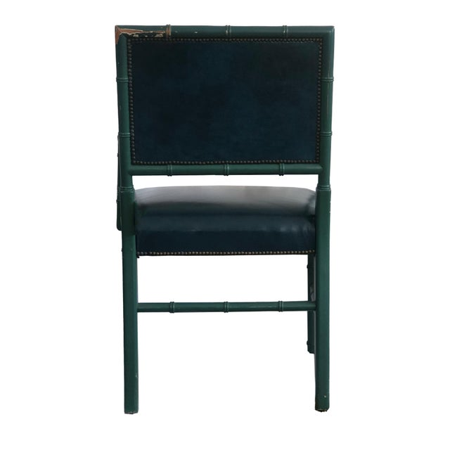 Hollywood Regency Mid-Century Blue Arm Chairs - a Pair For Sale - Image 3 of 8
