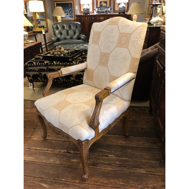 Baker French Style Arm Chair For Sale - Image 10 of 11