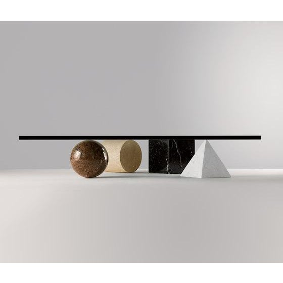 Massimo and Lella Vignelli 1970s Postmodern Metafora Coffee Table For Sale - Image 4 of 5