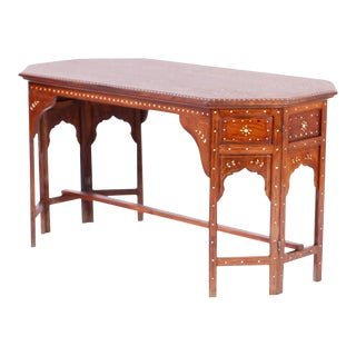 Bone Inlaid Anglo Indian Coffee Table For Sale