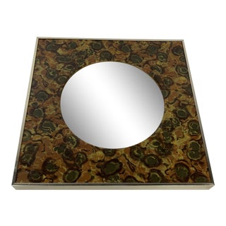 Turner Mid Century Modern Convex Glass Mirror For Sale