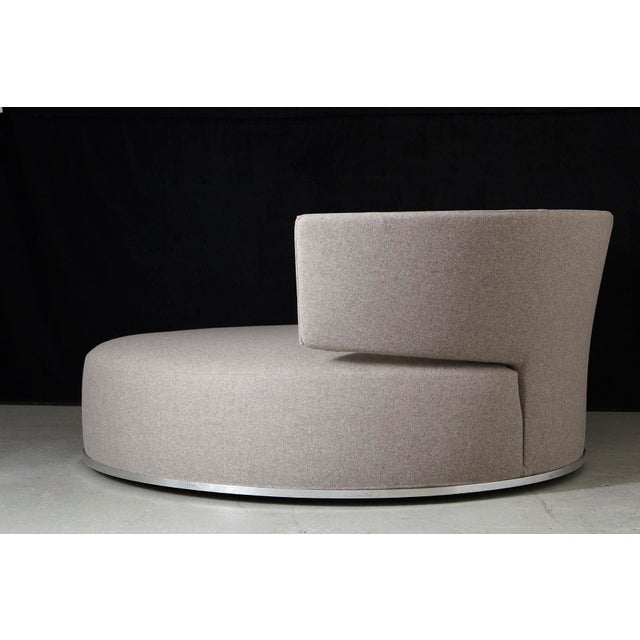 Contemporary Amoenus - Circular Swivel Sofa by Antonio Citterio for B & B Italia, New Upholstery For Sale - Image 3 of 13