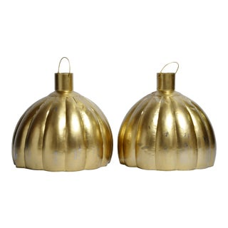 Large Pumpkin Shaped Hanging Lamps For Sale