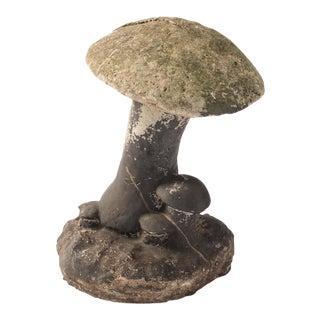 Vintage Painted Concrete Mushroom