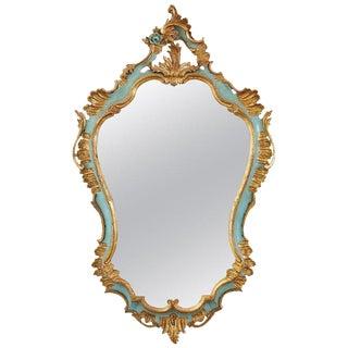 19th Century Italian Rococo Style Cartouche Mirror