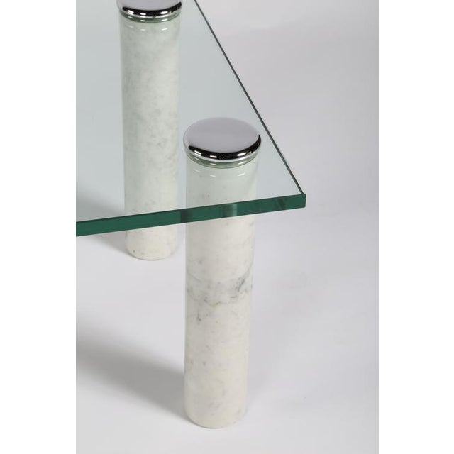 1970s PACE MARBLE AND GLASS COCKTAIL TABLE For Sale - Image 5 of 7