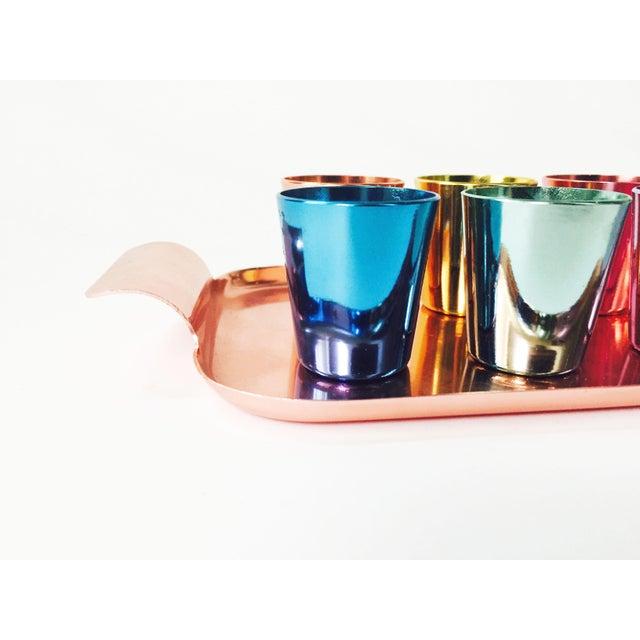 Colorful Vintage German Metal Shot Glasses - Set of 6 - Image 5 of 6