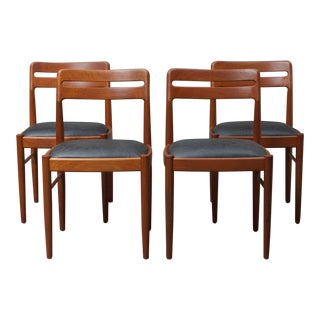 Mid-Century Modern Danish Teak Chairs - Set of 4 For Sale