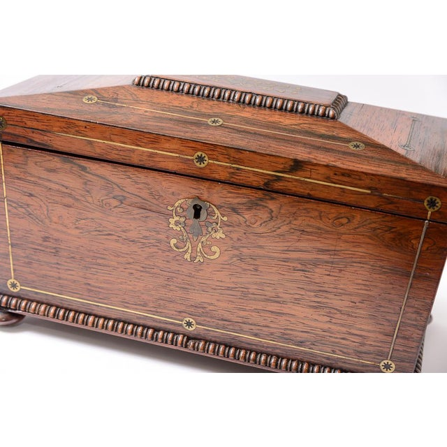 English Traditional Regency tea caddy For Sale - Image 3 of 11