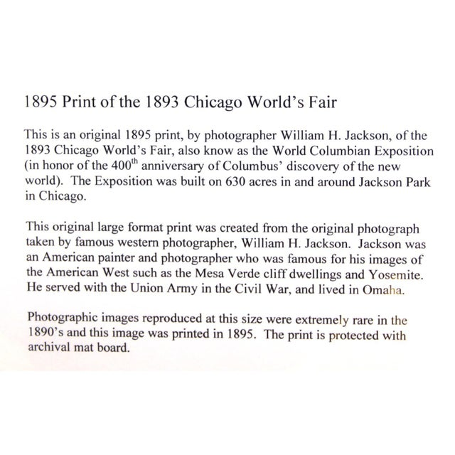 William H. Jackson Co. 1895 World's Fair Print (State Buildings of Mass, NY, Penn) For Sale - Image 4 of 5