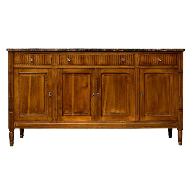 Antique French Louis XVI Style Walnut Buffet For Sale