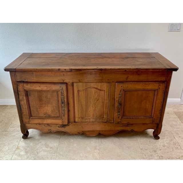 Antique Rustic French Walnut Buffet For Sale In Dallas - Image 6 of 13