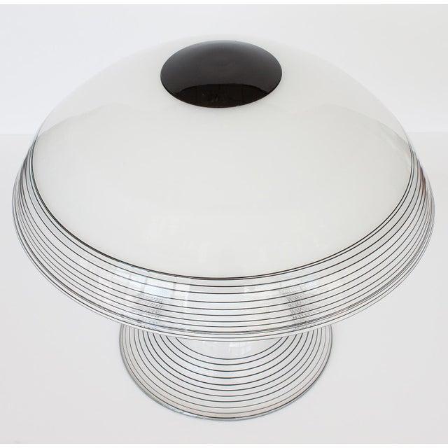 Italian Black and White Murano Swirl Glass Table Lamp - Image 9 of 10