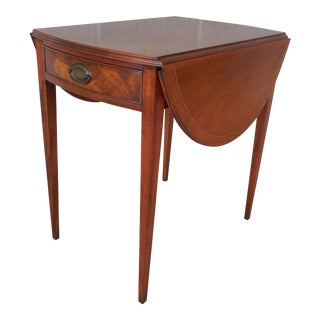 Henredon Vintage Federal Style Pembroke End Table For Sale