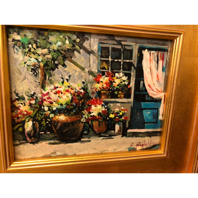 1980s Impressionistic Outdoor Garden Oil on Canvas Painting For Sale In New York - Image 6 of 8