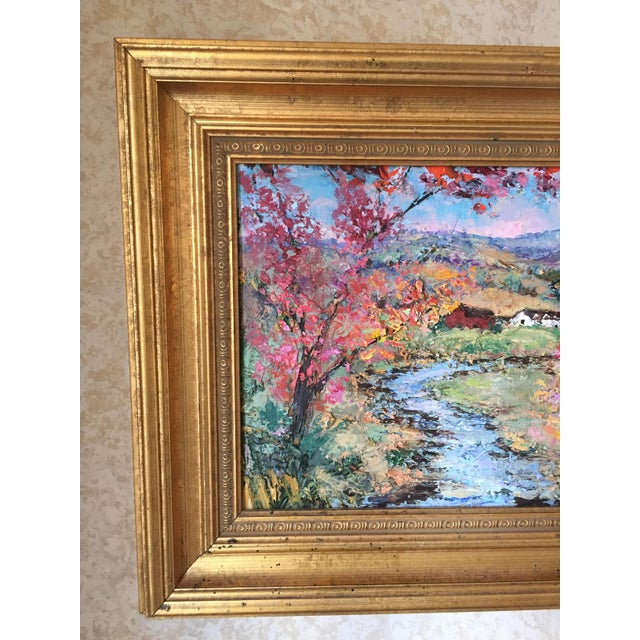 Original oil painting - vibrant and beautiful colors in a gilt frame. A Fisher Island New York native, Allison Kibbe's art...