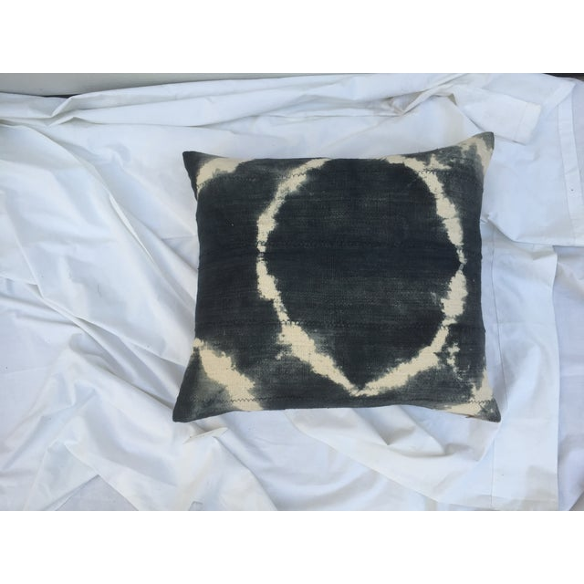 Grey Tie-Dye Mud Cloth Pillows - Pair - Image 6 of 6
