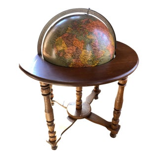 Replogle Library Globe With Mahogany Base For Sale