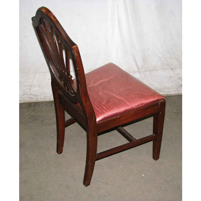 Hepplewhite Classic Mahogany Dining Chairs - Set of 6 For Sale - Image 3 of 12