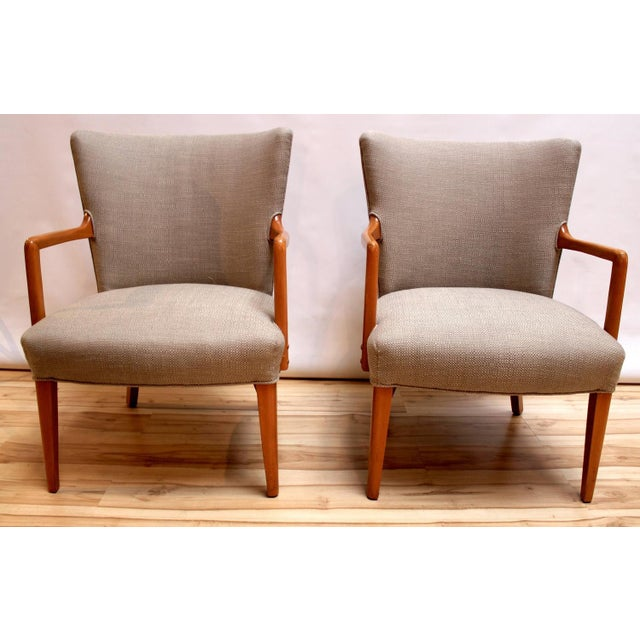 Mid-Century Modern Lounge Chairs - Pair - Image 2 of 10