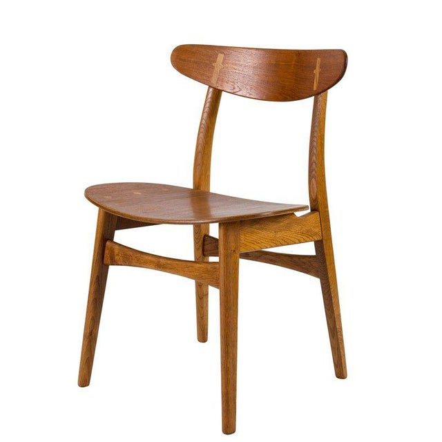 Set of Eight Hans Wegner CH 30 Dining Chairs For Sale - Image 4 of 10