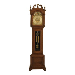 RJ Horner Chippendale Oak Elliot London Movement Grandfather Clock