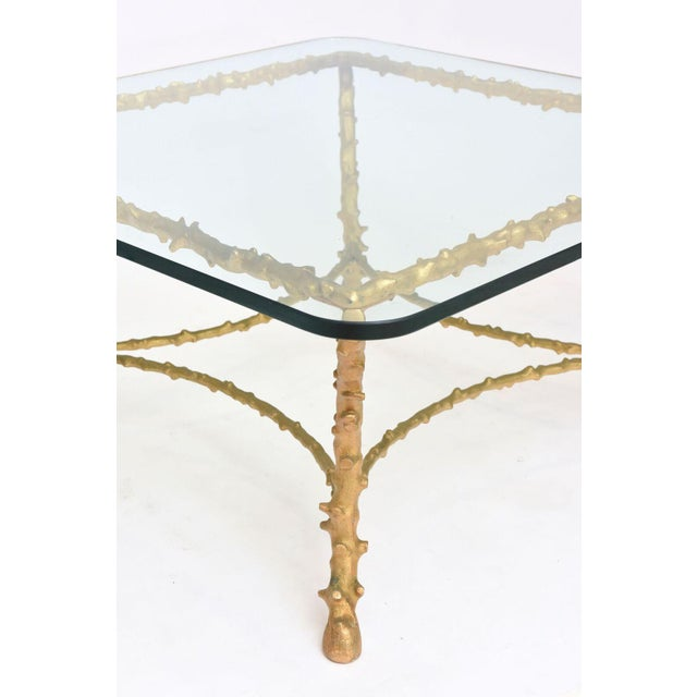 French Modern Gilt Bronze Low Table, Attributed to Maison Baguès For Sale - Image 9 of 10