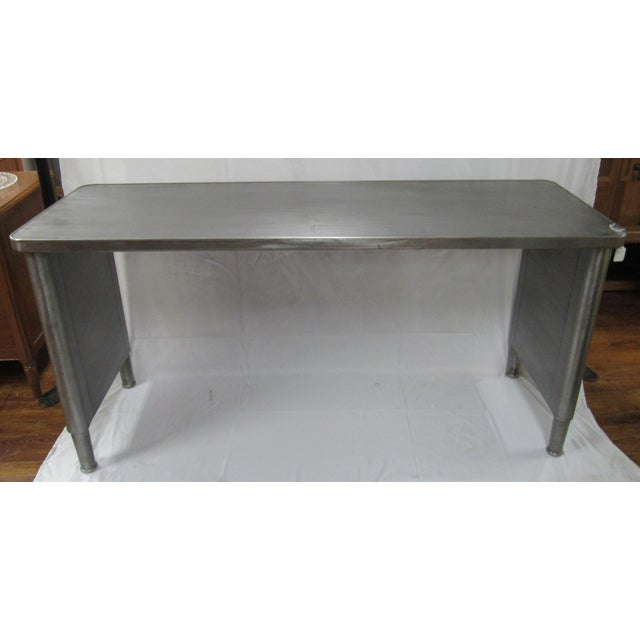 Metal 1960s Industrial Adjustable Height Console Table For Sale - Image 7 of 7