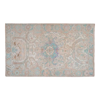 """Decorative Soft Muted Color Turkish Oushak Rug 5'5"""" X 9'3"""" For Sale"""