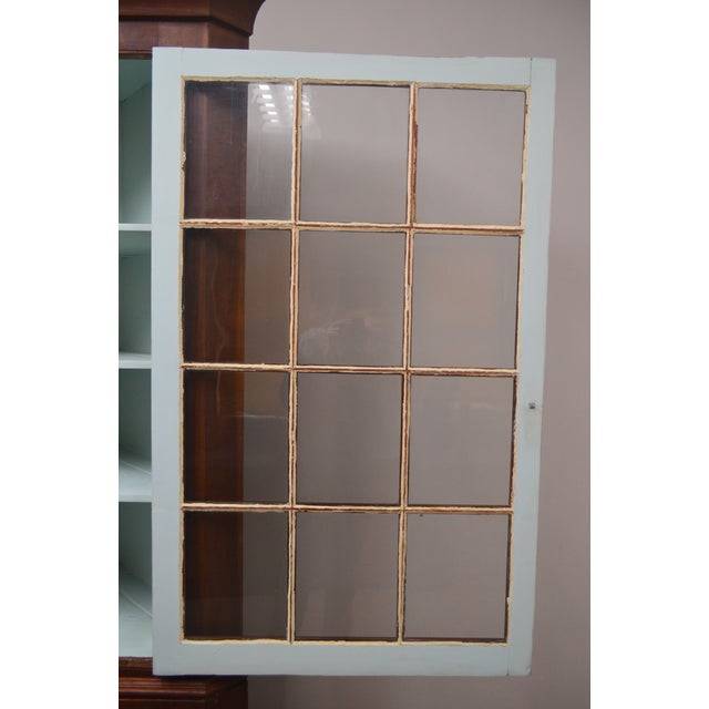 19th Century Antique Pine China Cabinet For Sale - Image 4 of 12