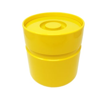 Yellow Ice Bucket by Sergio Asti for Heller For Sale