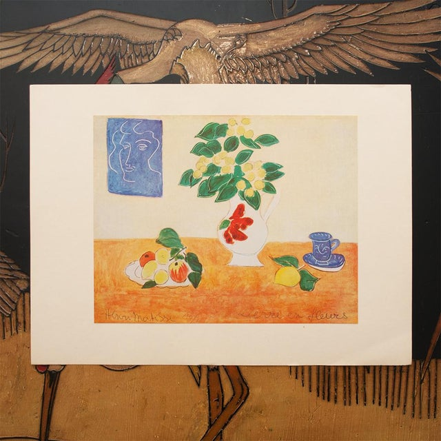 """Expressionism 1947 Henri Matisse, Original Period Lithograph """"Flowering Ivy"""" For Sale - Image 3 of 8"""
