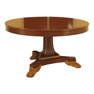 Traditional Baker Furniture Company Walnut Dining Room Table For Sale