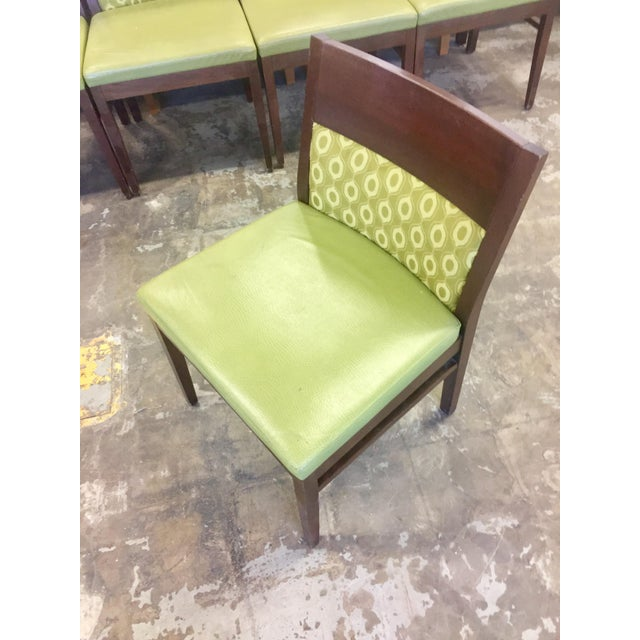 Verdant Green Patterned Dining Chairs - Set of Six - Image 3 of 7