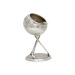 English Silver-Plate Golf Ashtray For Sale