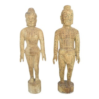 Asian Acupuncture Figures - A Pair For Sale