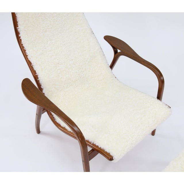 Vintage Yngve Ekstrom for Swedese Lamino Chair and Ottoman For Sale - Image 9 of 13
