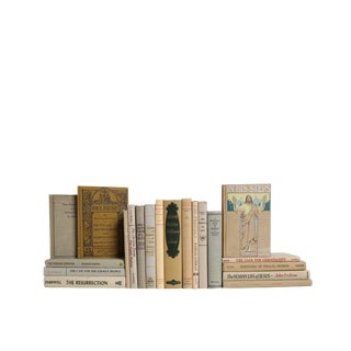 Christian History in Neutral - Set of Twenty Decorative Books For Sale